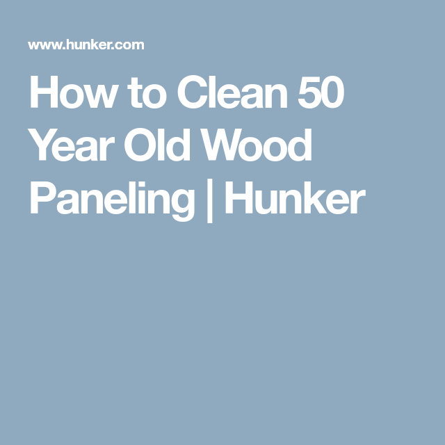 Vintage Knotty Pine Paneling: How To Clean Knotty Pine Paneling