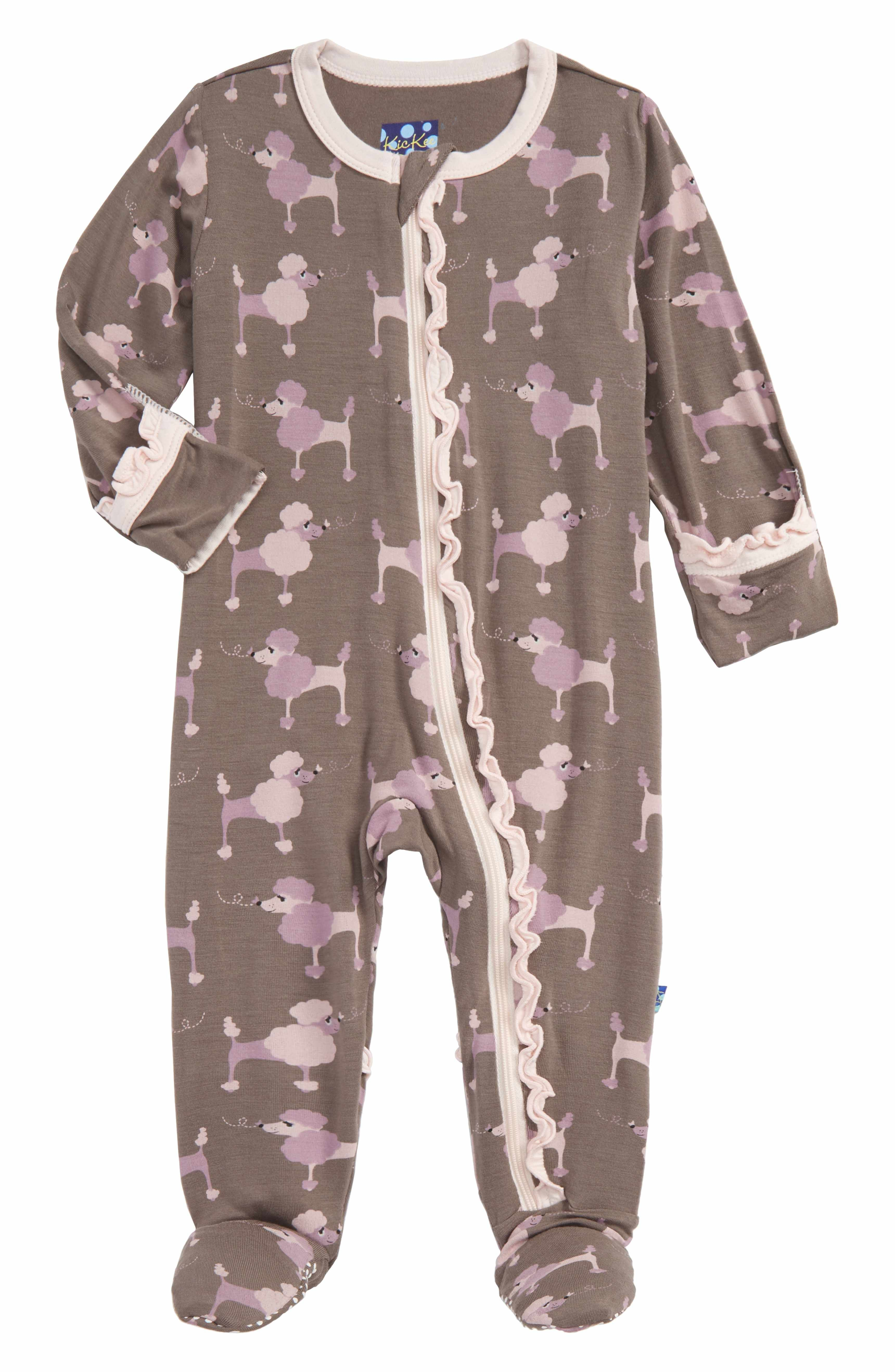 Main Image Kickee Pants Print Fitted e Piece Footie Pajamas