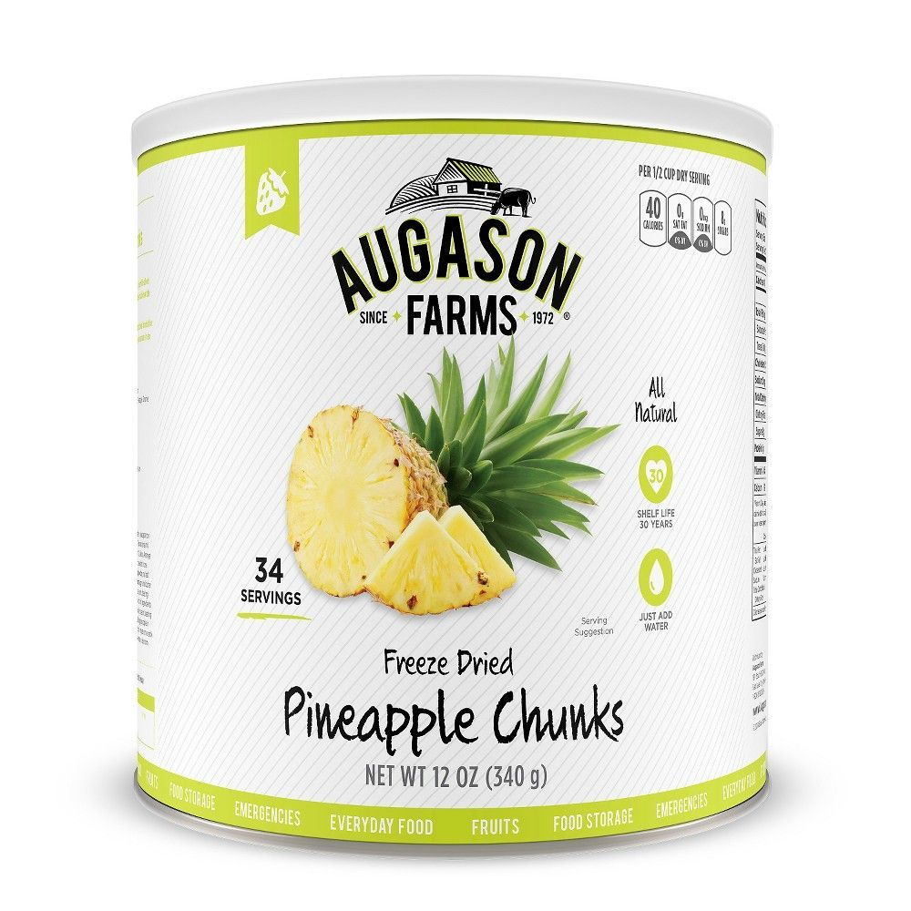 Augason farms gluten free freeze dried pineapple chunks