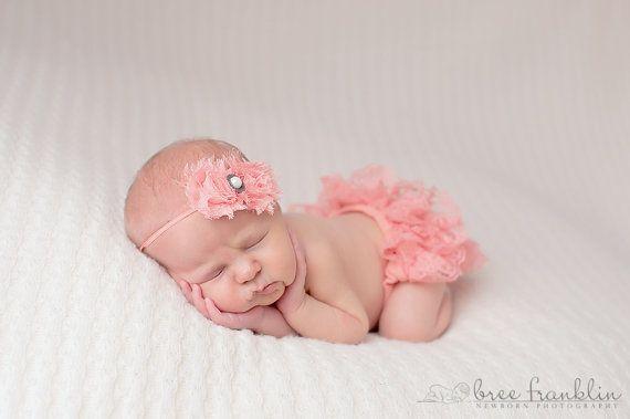 Baby pink headband baby girl flower headband newborn photography prop pearl center girl vintage baby props