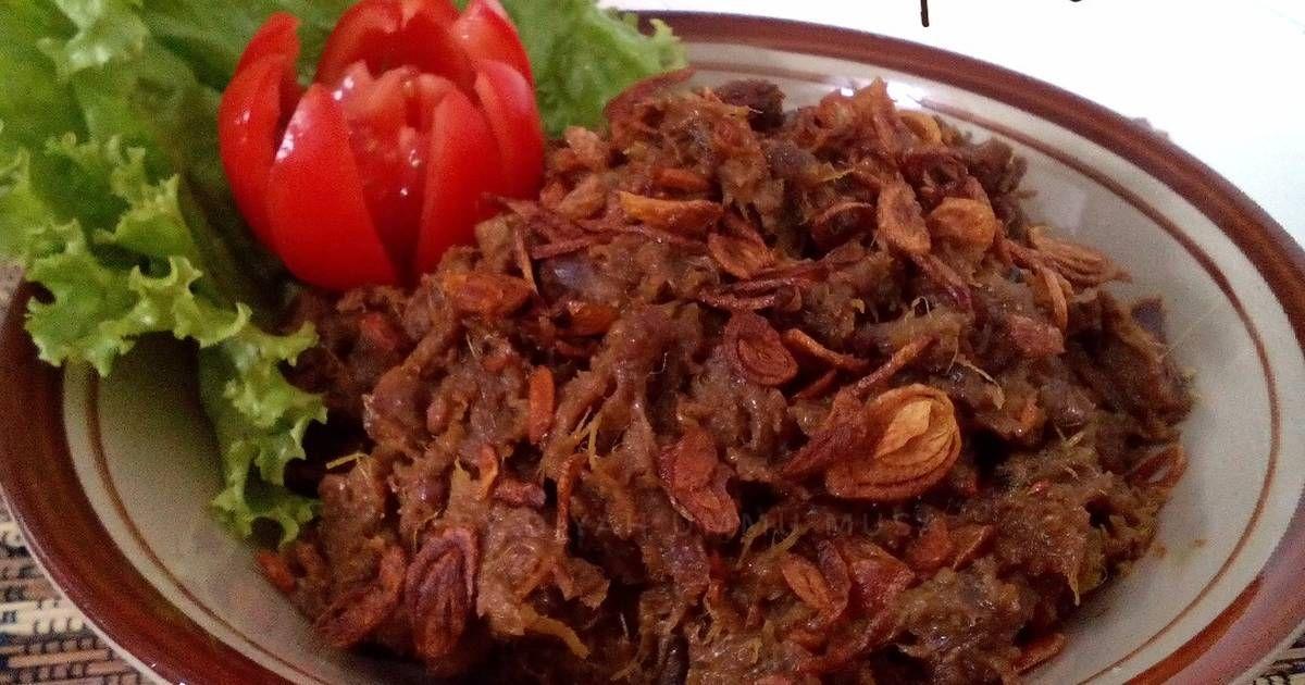 Resep Empal Gepuk Suwir Daging Sapi Khas Sunda Oleh Diyah Kuntari Resep Resep Daging Sapi Resep Masakan