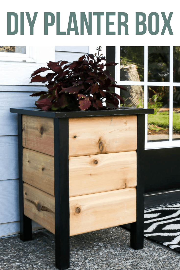 DIY Planter Box For Front Porch is part of Diy planter box, Diy planters, Planter boxes, Easy planter box, Diy outdoor planter boxes, Diy planters outdoor - Want to add some life to your front porch  Download these easy DIY planter box plans and learn how to build these modern farmhouse planters