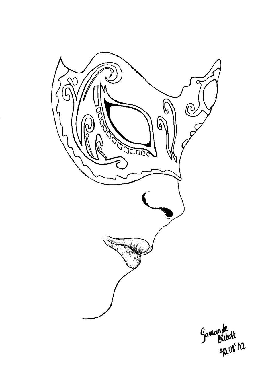 Veian mask part II lineart by