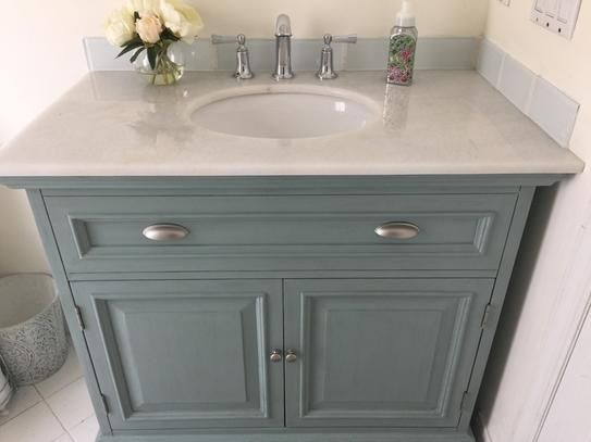 Home Decorators Collection Sadie 38 in. Vanity in Antique Blue with Marble  Vanity Top in White with White Basin 1666500350 at The Home Depot - Mobile - Home Decorators Collection Sadie 38 In. W Bath Vanity In Antique