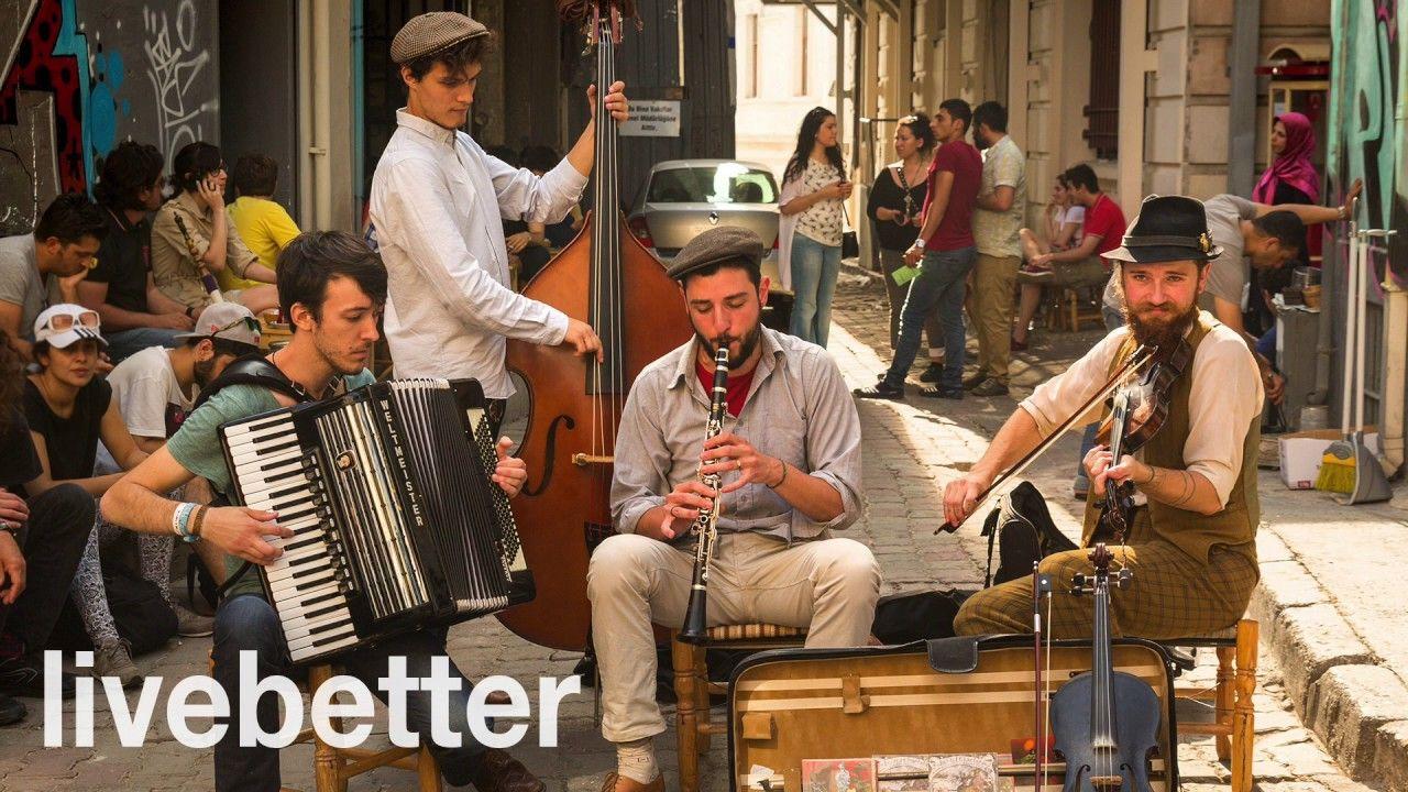Modern jazz gypsy music to listen and dance instrumental mix