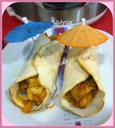 Recetas Dukan by Julycar: Burritos ó tacos de pollo con tortitas de tofu