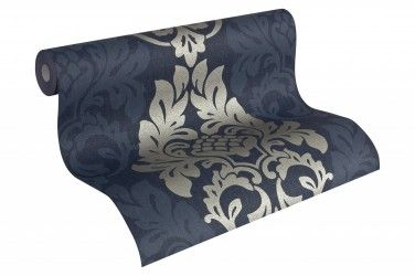 Vliestapete Barock blau silber AS Fleece Royal 96190-5 online bestellen