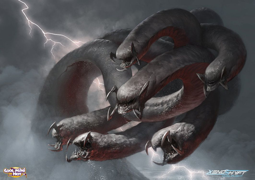 hydra by Alejandro-Mirabal on DeviantArt | chaos | Hydra monster