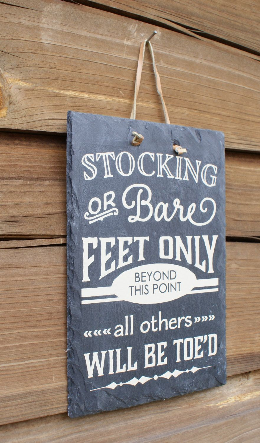 cd33ac40c9e7de No shoes sign. For the backdoor. STOCKING or BARE FEET Only - Remove Your  Shoes - Entryway Sign - Housewarming Gift - New Home Gift - Welcome Guests  - House ...