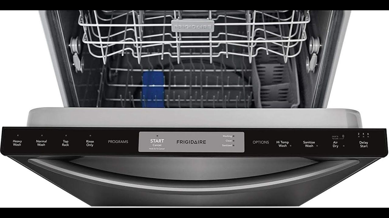 Frigidaire Ffid2426td 24 Built In Dishwasher 24 Inch Black Stainless Built In Dishwasher Frigidaire Dishwasher