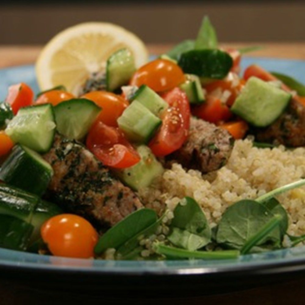 herby lamb with quinoa  recipe  healthy food dishes