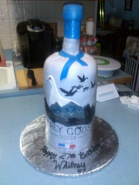 Grey Goose Bottle Birthday Cake My Cakes Pinterest