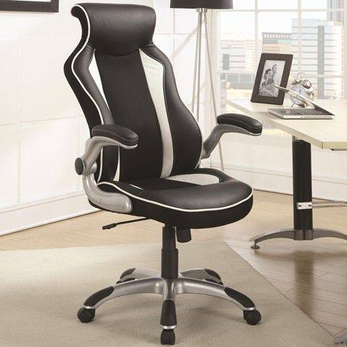 with a stylish race car seat design this black and white office chair offers great lumbar support and a curved back for lasting comfort all throug car seats office chairs
