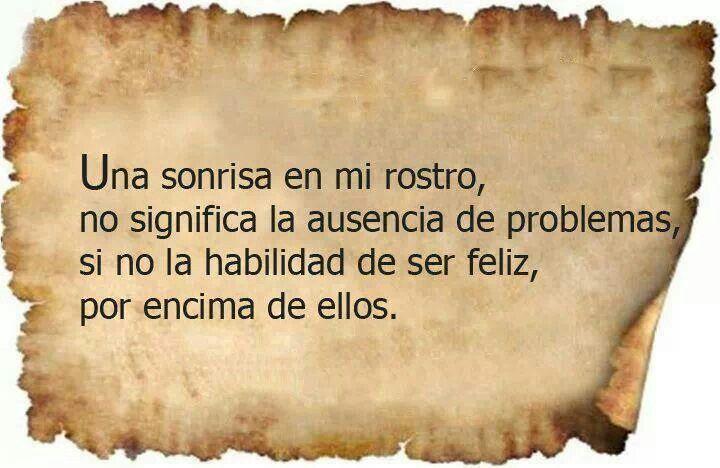 Ser feliz por encima de los problemas