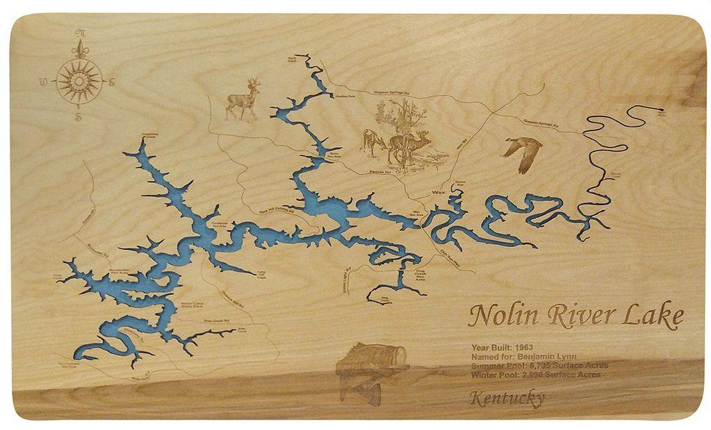 Nolin River Lake Kentucky Wood Laser