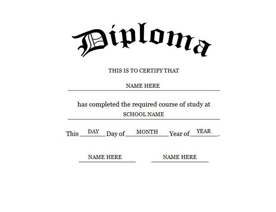 Looking For Blank High School Diploma Template Then You Are At The Right Place H Free High School Diploma High School Diploma Graduation Certificate Template