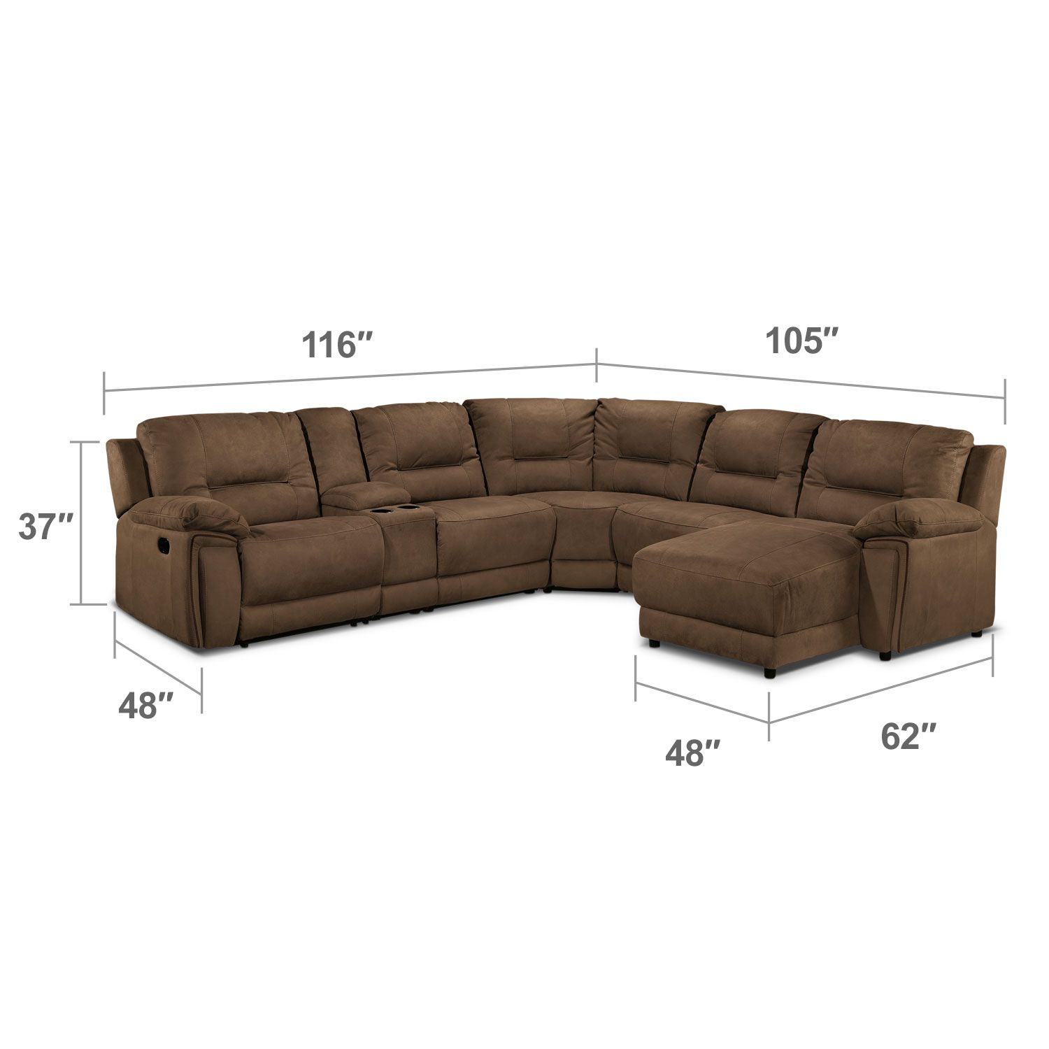 Cool Pick. The Easy To Coordinate Hazelnut Colour Of The Pasadena Sectional  Sofa Offers A Warm, Modern Neutral For Your Living Room.