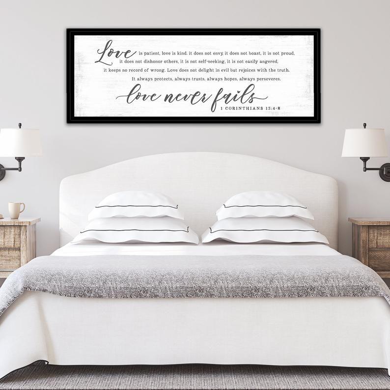 Love Is Patient Love Is Kind 1 Corinthians 13 Sign Love Etsy Love Is Patient Girls Room Decor Home Decor