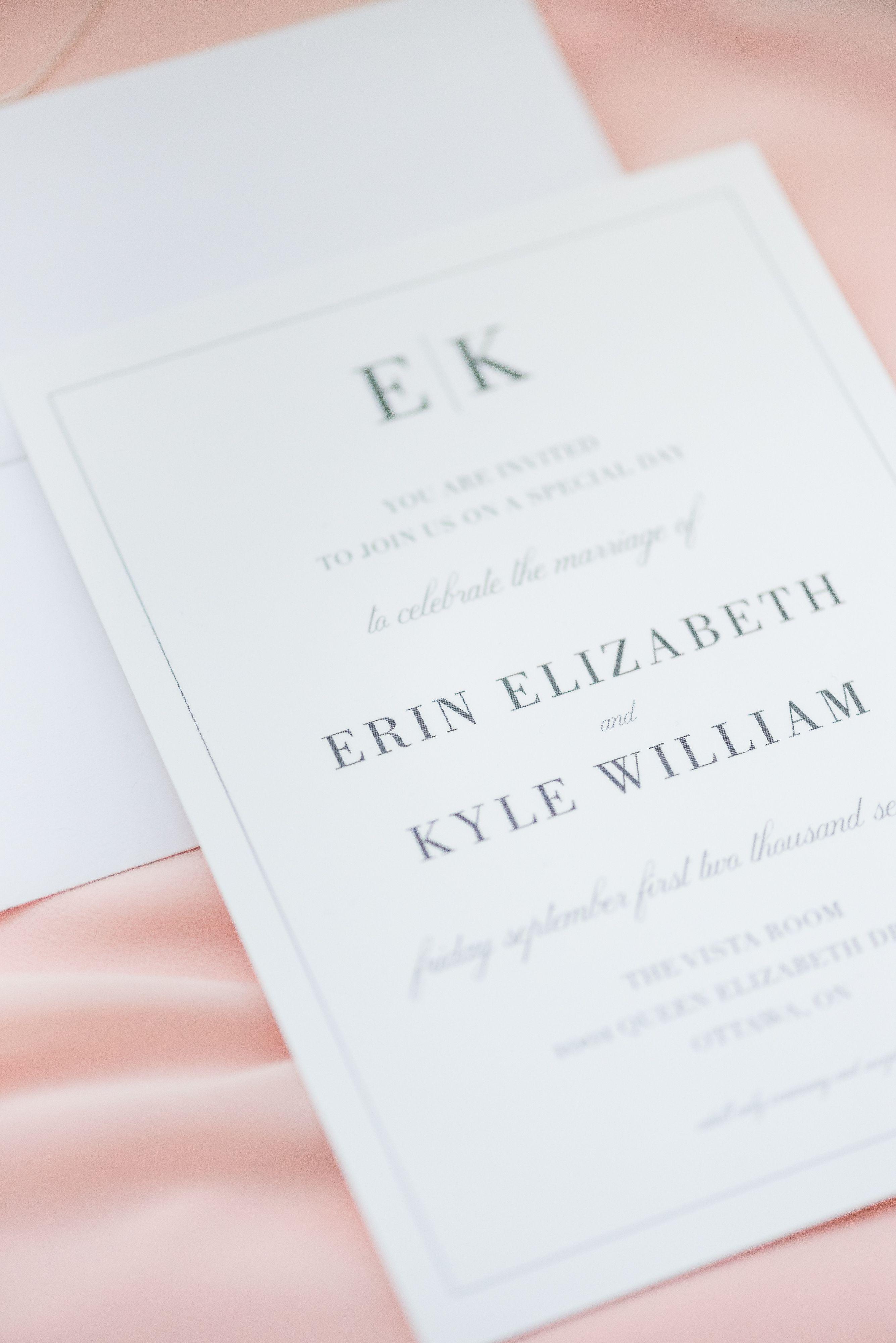 Erin kyle pinterest invitation suite wedding and elegant simple modern wedding invitation suite stopboris Image collections