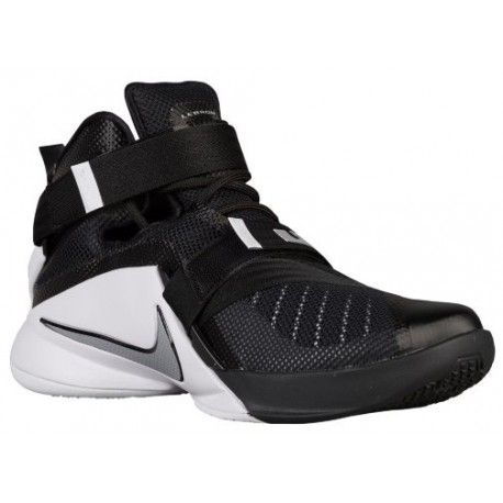 Men Nike Zoom Soldier IX'Basketball Shoes' Black/White/Anthracite/Metallic Silver Model UK1724