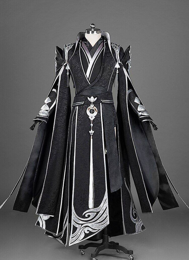 Photo of US $ 760.0 | Black Crane RuFeng Jian Wang III Senior Taoist Priest ChunYang Group Costume Anime Cosplay Hanfu Male Full Set DHL Free Shipping In Game Costumes from Novelties and Special Use at AliExpress