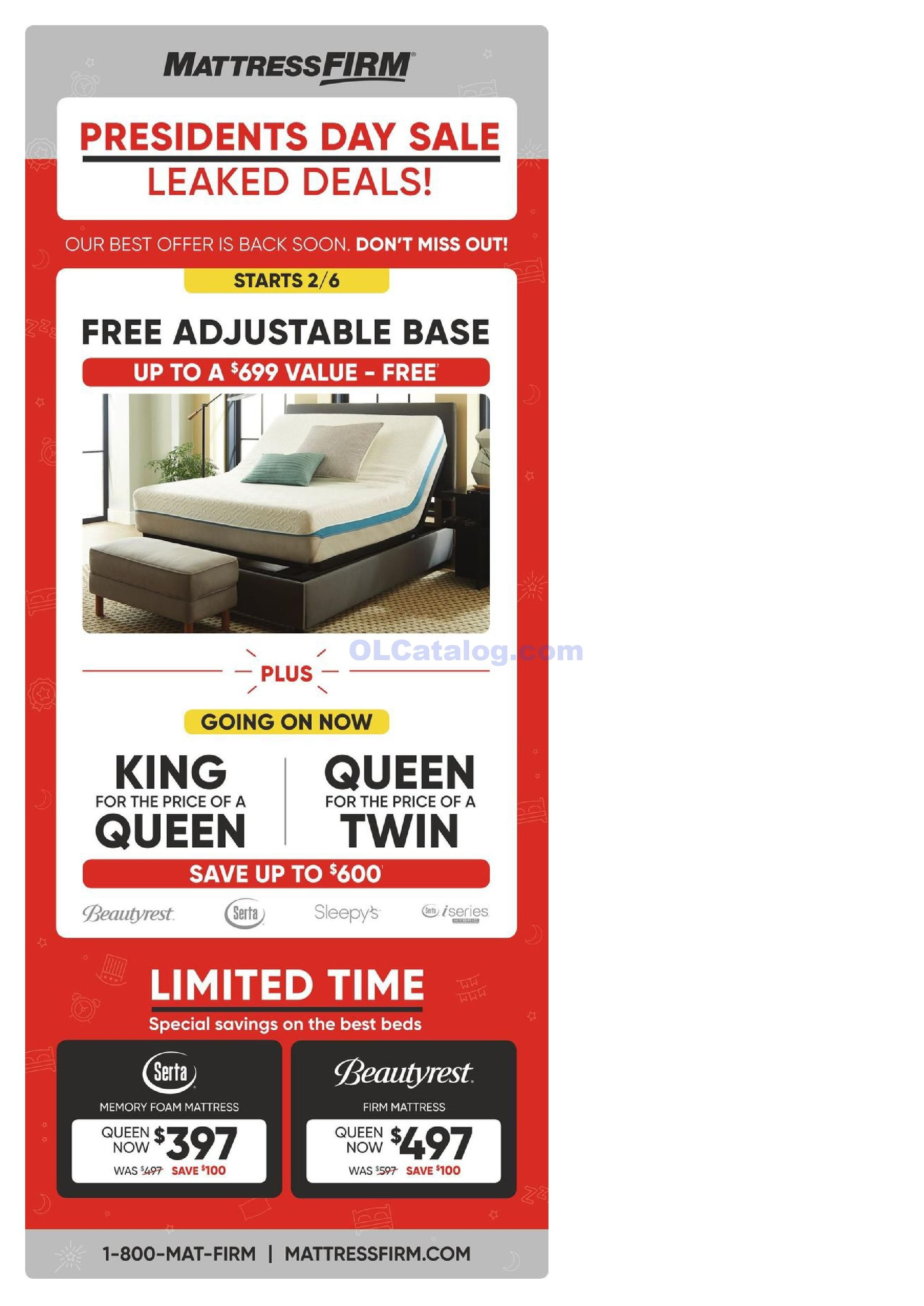 Mattress Firm Weekly Ad January 30 February 19 2019 Do You