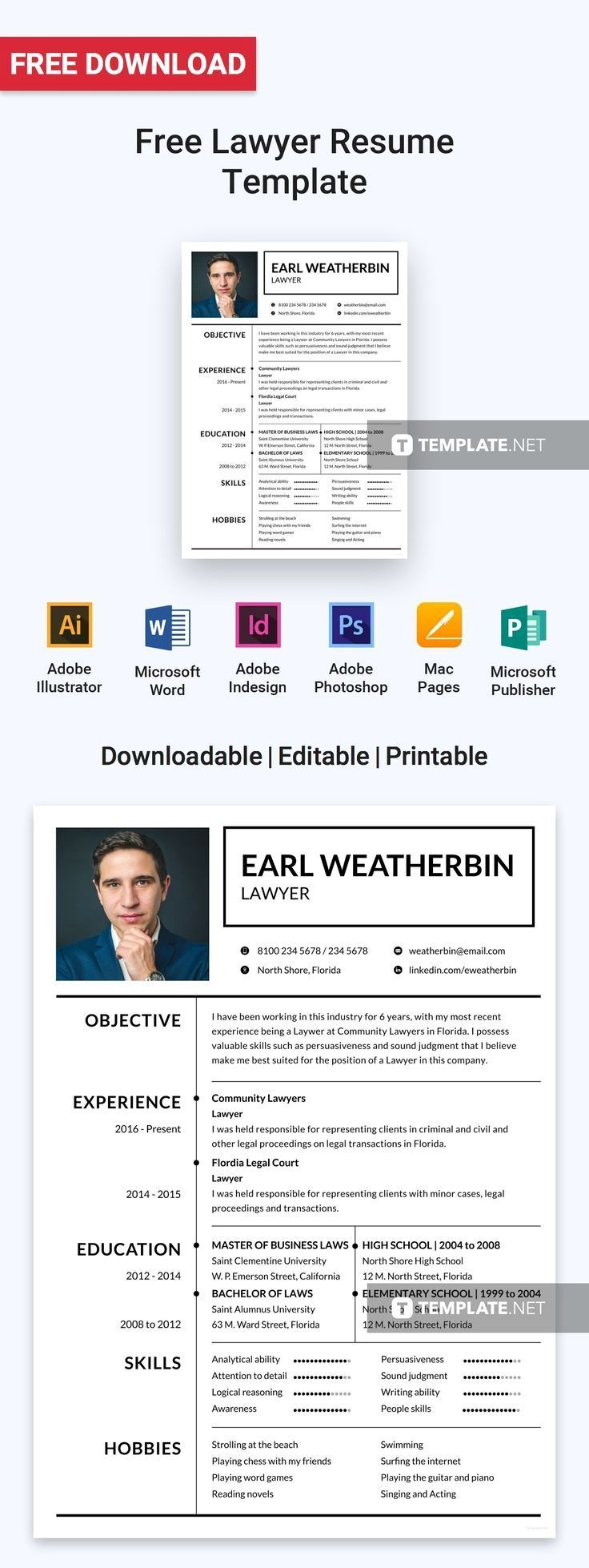 A clean and effective resume that is designed for those