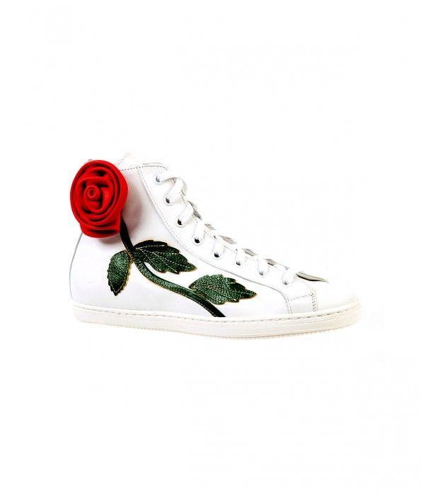 cca81cb58ecc BRACCIALINI rose #sneakers Punk, Lolita Fashion, Cute Shoes, Women's Shoes,  White