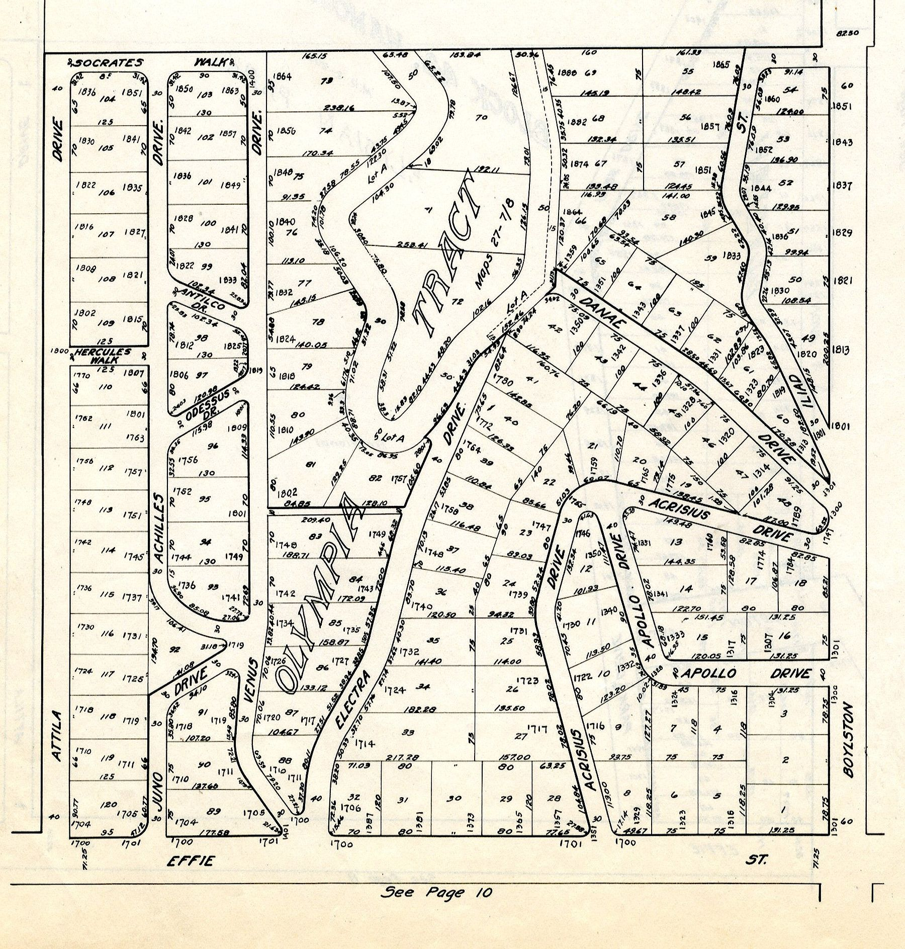 Property Book Of Los Angeles City Los Angeles Map And Address Co Published By The T V Allen Co 1917 Los Angeles Map History Street Names