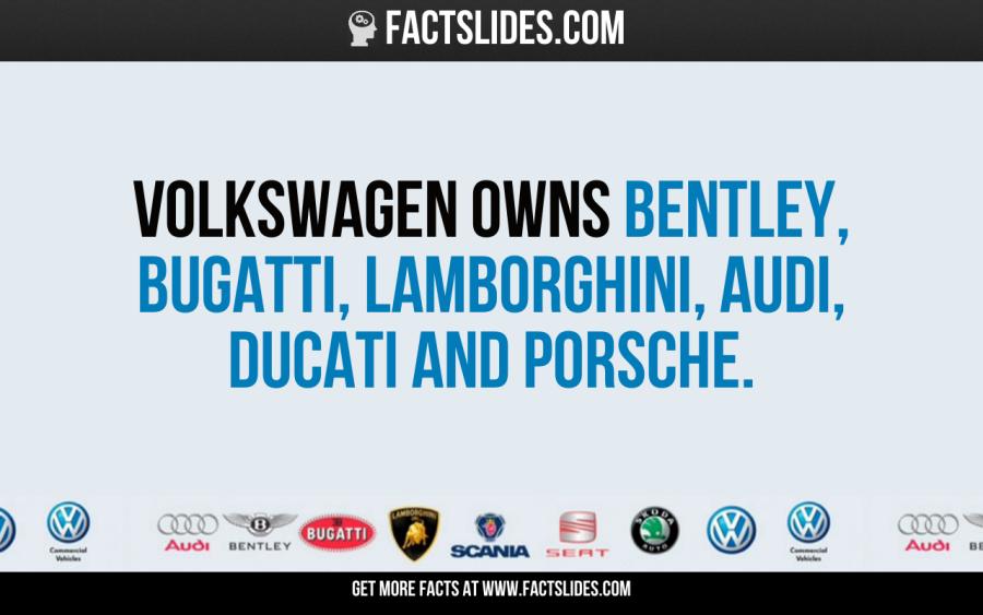 Who Owns Audi >> Volkswagen Owns Bentley Bugatti Lamborghini Audi Ducati