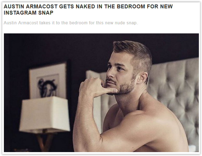 #AustinArmacost gets #naked for #Instagram.
