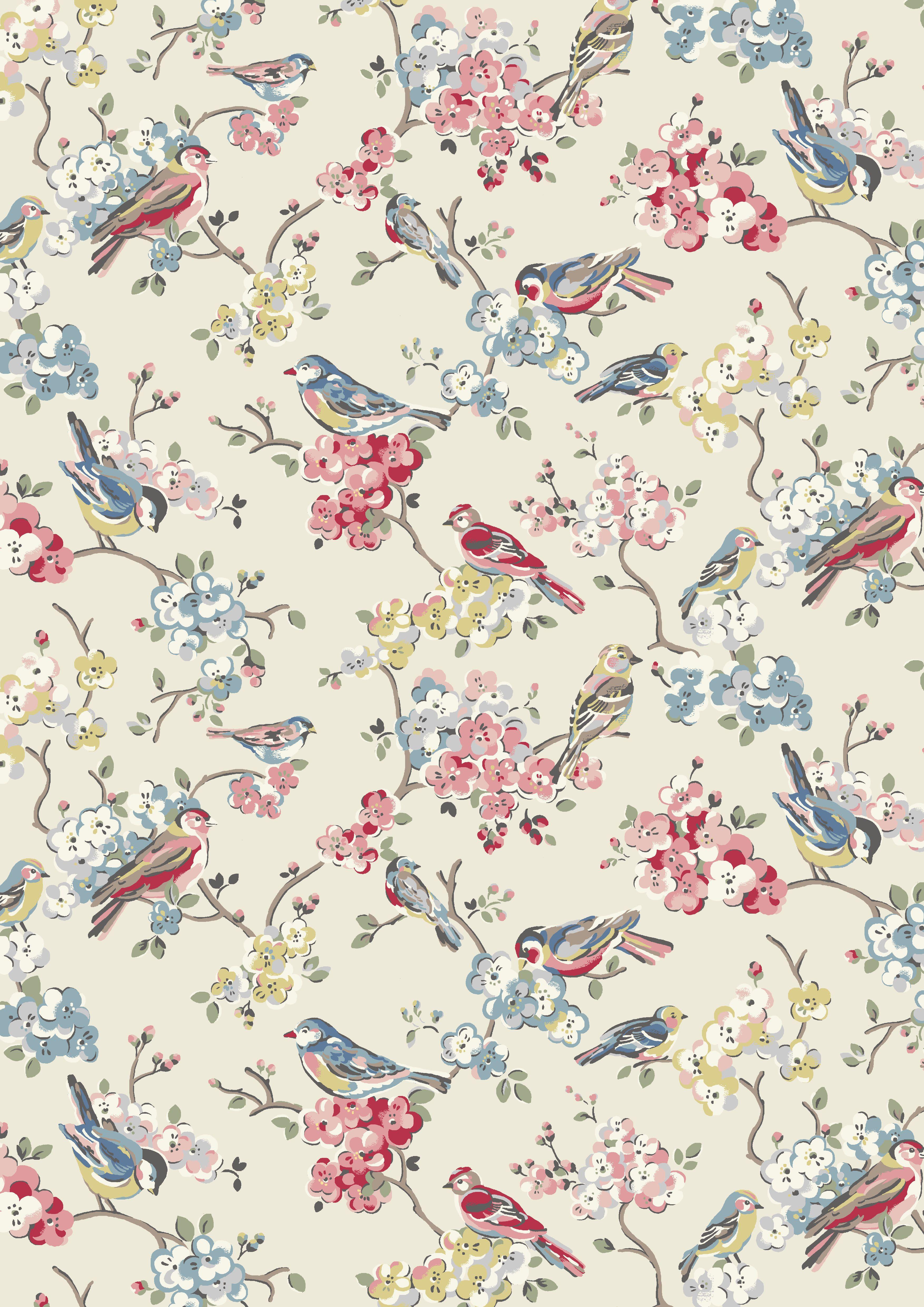 Introducing Blossom Birds Pattern wallpaper, Bird