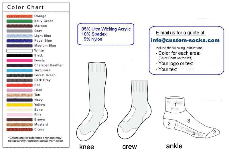 Custom Sport Socks Sock Template Custom Sports Socks