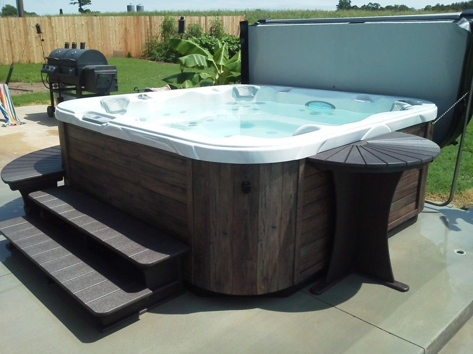 Lighthousespas Two Tier Steps Half Round Table Curved Bench Hot