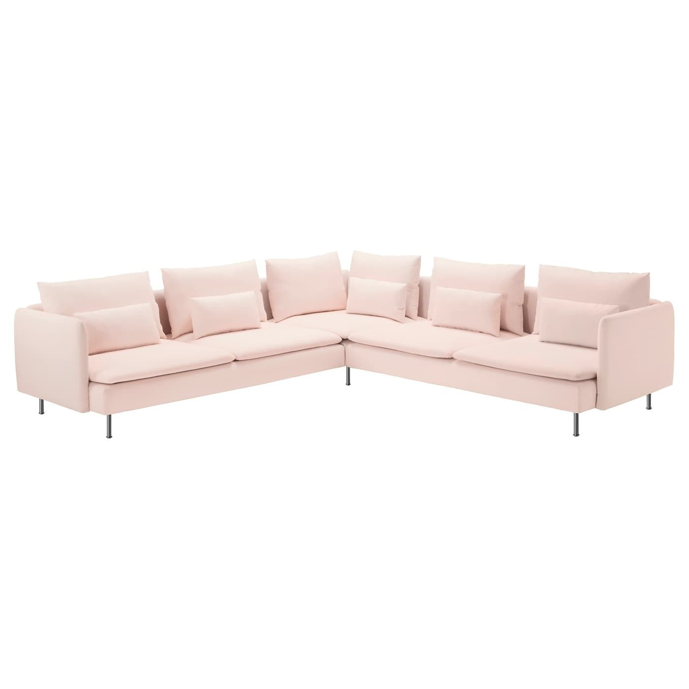 This listing is for a slipcover only,. IKEA - SÖDERHAMN Sectional, 5-seat Samsta light pink ...
