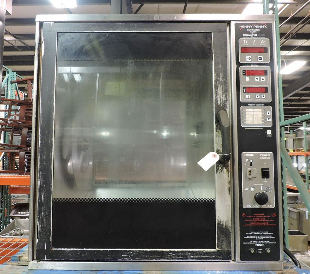 Henny Penny Scr 6 Commercial 6 Spit Countertop Rotisserie Hennypenny Used Restaurant Equipment Oven Sale Rotisserie Oven
