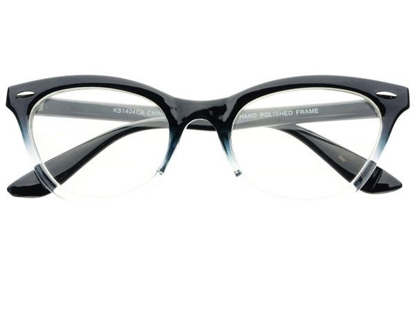 Clear Lens Fashion Cat Eye Glasses Frames Black C381 – FREYRS ...
