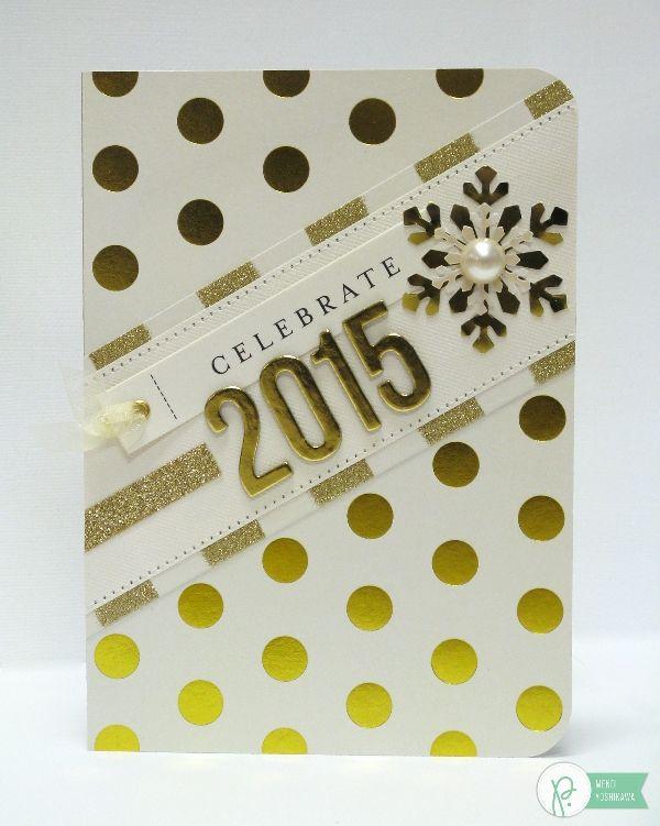 New Year Card By Mendi Yoshikawa Using The Jhhomemade Collection From Pebblesinc Snippetsbymendi