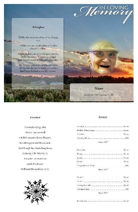 Free Funeral Programs Inspiration Create Funeral Program Using Funeral Templateselect Size Pages .