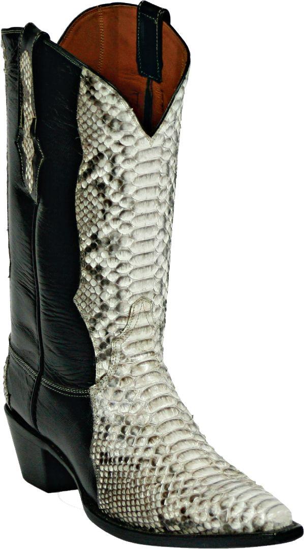 Womens Black Jack Boots Natural Python Snake Custom Boots 621