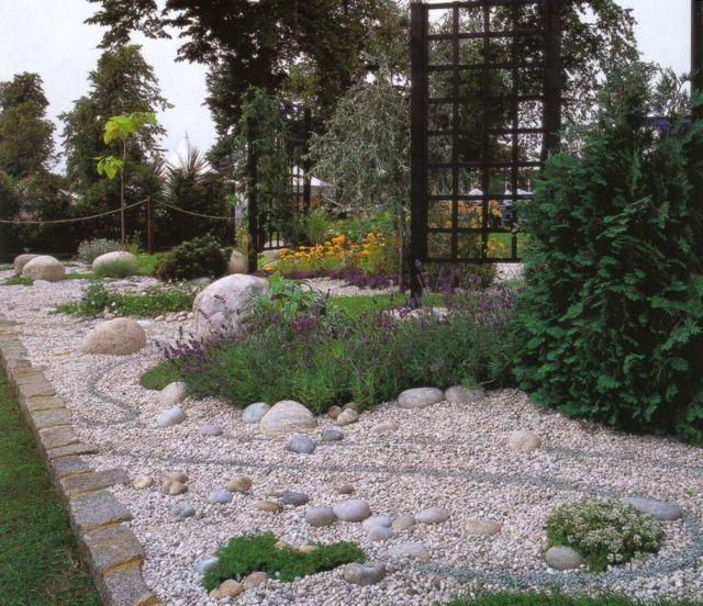 Déco de jardin aux rocailles