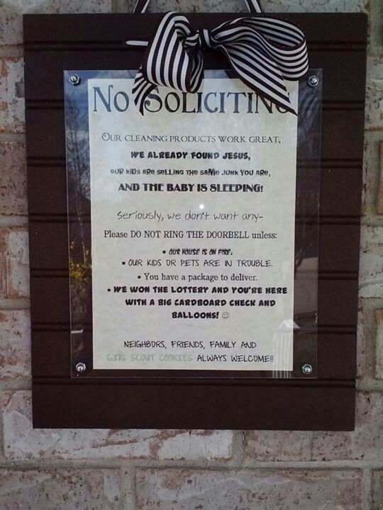Best No Soliciting Sign Ever Seriously Changed My Life