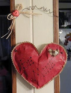 What a cute and easy heart I wish I had time to make!