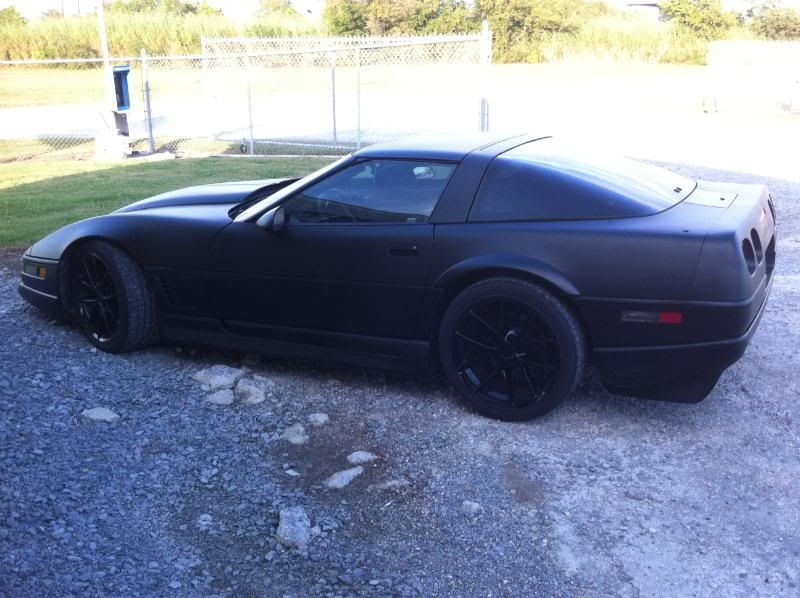 matte black c4 - hopefully, it will look like this when it's done