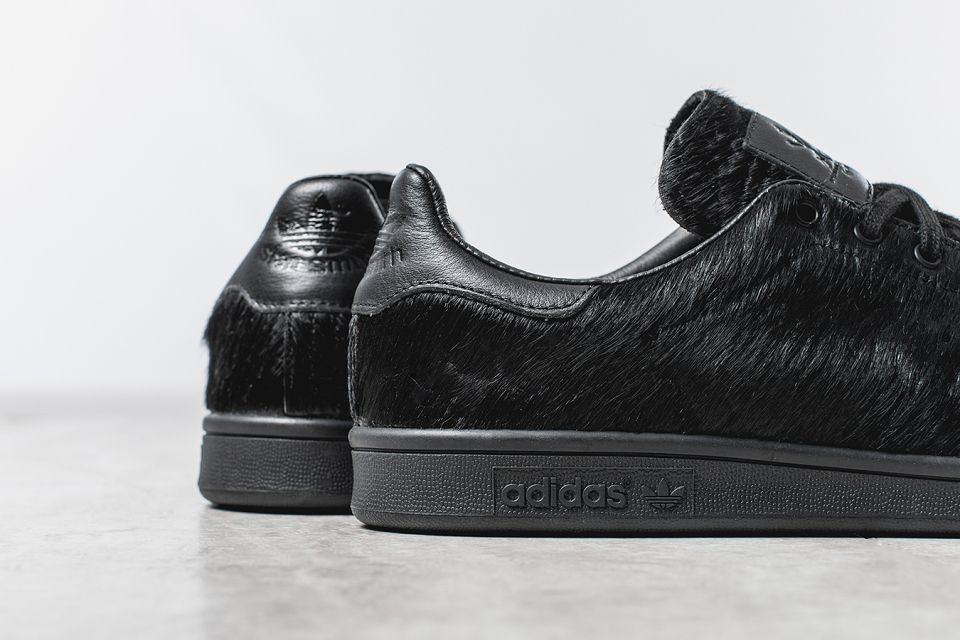 adidas stan smith pony hair black