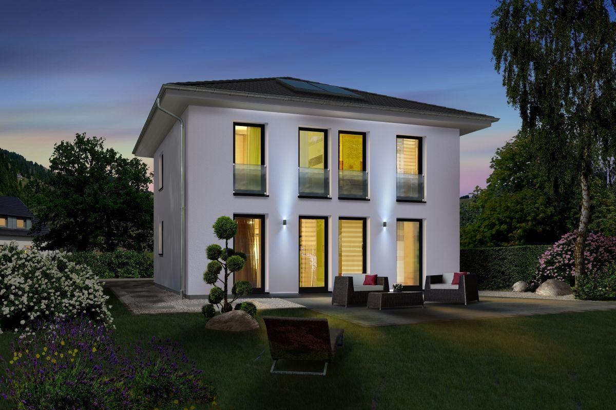 Moderne Stadtvilla Neubau klassisch mit Zeltdach