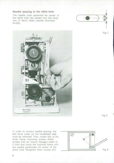 Bernina 900 Sewing Machine Adjusters Manual Sewing Machine Service Sewing Machine Manuals Sewing Machine