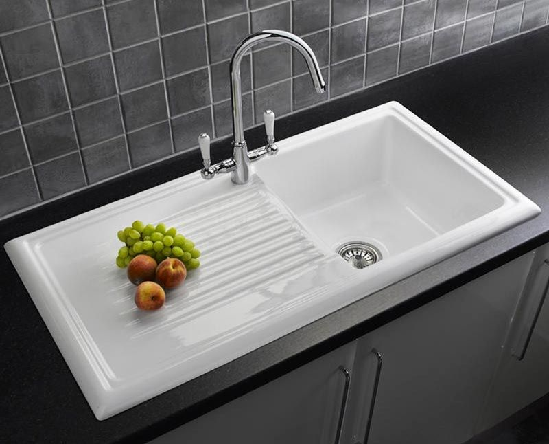 Reginox LUX RL304CW Ceramic 1.0 Bowl Kitchen Sink with FREE ...
