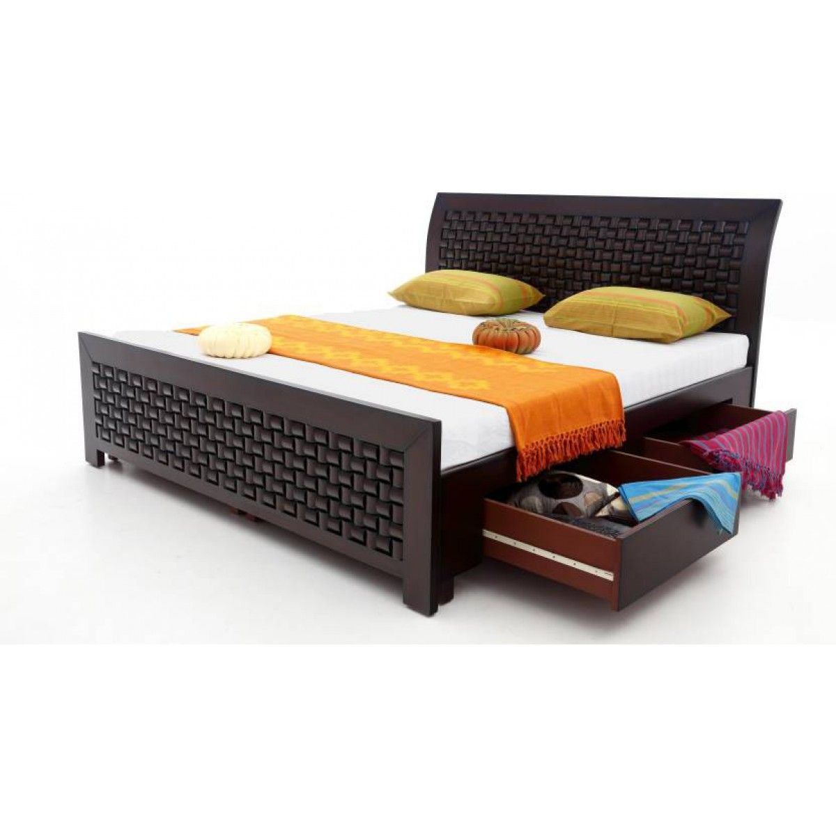 Amazingly Crafted Wooden Queen Size Bed Wide Storage Wooden Bed Design Wooden Bed With Storage Bed Furniture Design