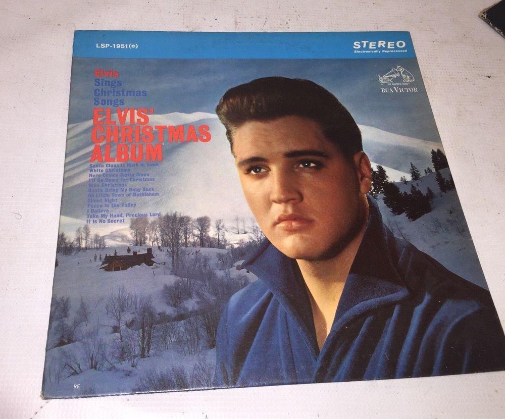 Elvis Presley Christmas Music.Elvis Presley Christmas Album Vintage Vinyl Record